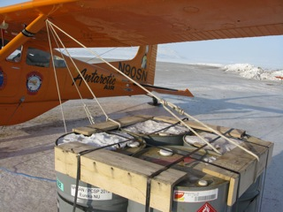 Winds in the High Arctic can be ferocious.  The more ropes to secure a small aircraft, the better.