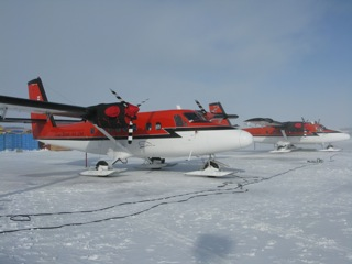 Ken Borek Air (Calgary) ski equipped Twin Otters are one of the work horses for Arctic Science.