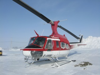 The larger Bell 212 helicopter