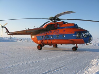 MI-8 helicopter, dependable workhorse of the Arctic