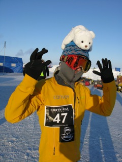 North Pole Marathon runner