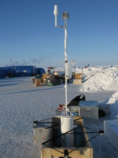 Scientific instrument cache at Ice Station Barneo.