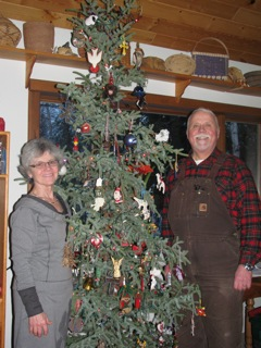 Art and Damaris with their decorated 2012 Christmas Tree
