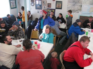 The Manley Hot Springs community - of about 70 people - gets together every February for a Spring Ice Cream Social.