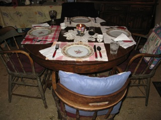 Mr. Don DeLima's dining room table - used by famous polar explorer Roald Amundsen in Eagle, Alaska.