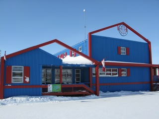 A portion of the Canadian Polar Continental Shelf Program scientific complex in Resolute Bay.