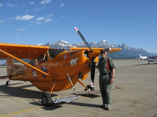 Art with the Polar Pumpkin - Jackson Hole airport, Wyoming