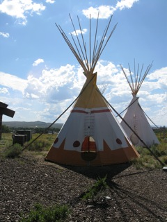 Teepees at the Museum of the Mountain Man - Pinedale, Wyoming
