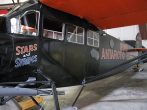 Admiral Byrd's Antarctic aircraft - the Stars and Stripes