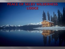 Peace of Selby Lodge in Gates of the Arctic National Park